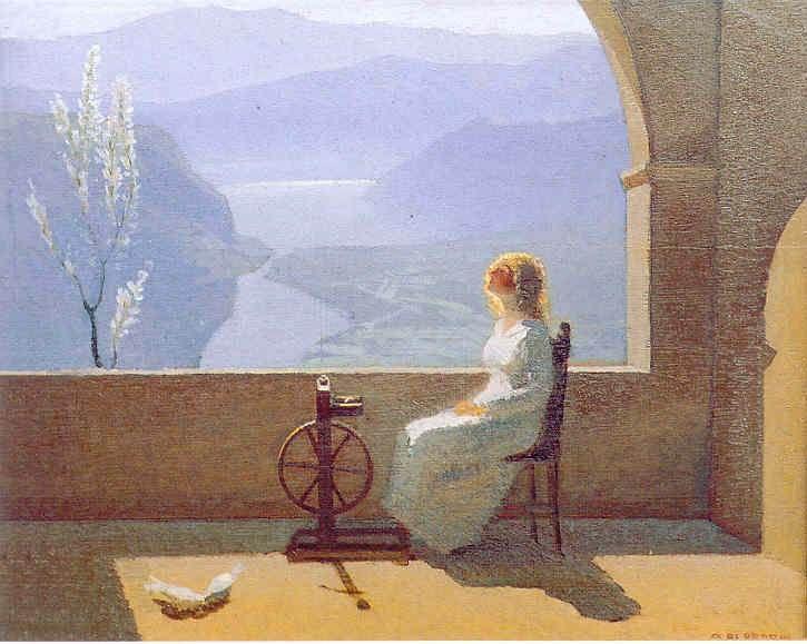 Estasi di primavera / Ecstasy Spring, 1932, Oreste Albertini. Italian (1887 - 1953)
