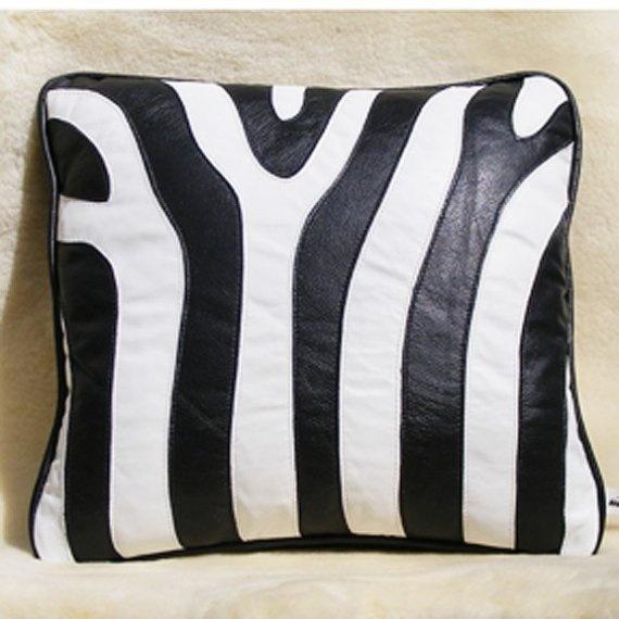 black zebra pillow. $90