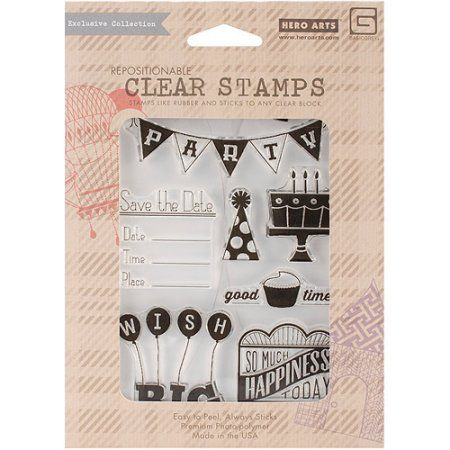 Hero Arts Basic Grey Rsvp Clear Stamps, Multicolor