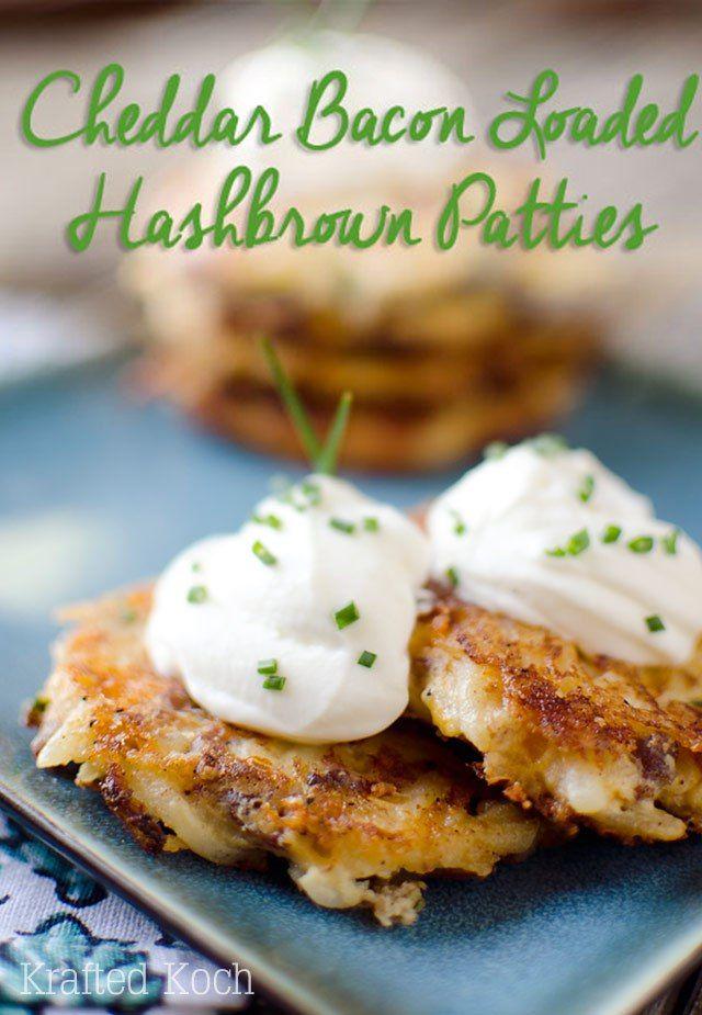 Cheddar Bacon Loaded Hash Brown Patties - Krafted Koch