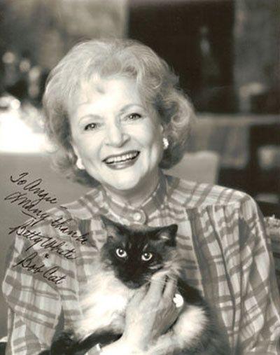 Betty White and cat