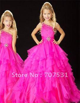 Hot sale !hot pink Little Girl's Pageant Dress Flower Girl Dress stock size 6.8.10.12 $85.00