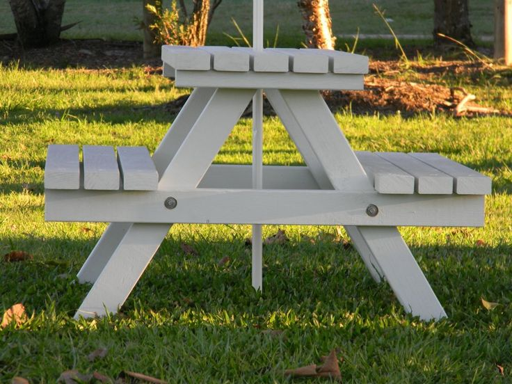 Kids Timber Picnic Table - Mini Good for the backyard and outdoor dining?