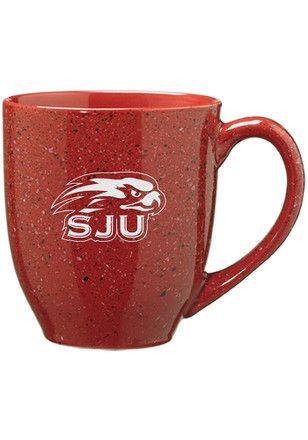 Saint Josephs Hawks 16oz Bistro Speckled Mug