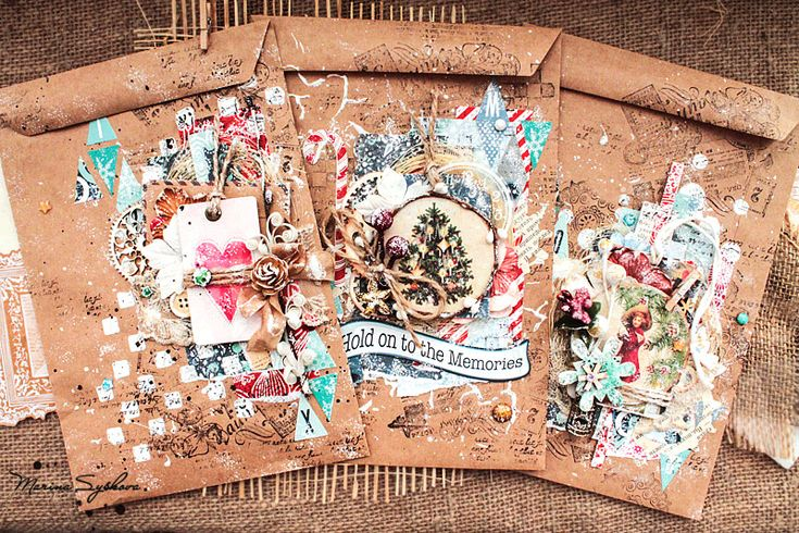 Handmade dreams : Новогодняя упаковка - крафт конверты! / Christmas envelopes)))