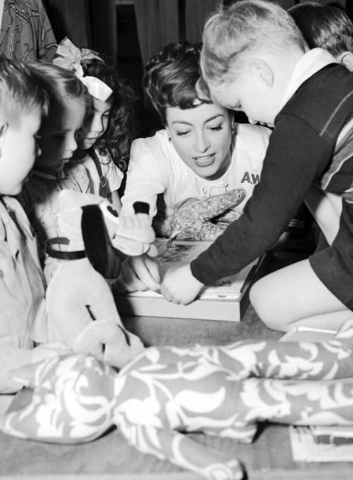 During WW2, Joan Crawford became part of the American Women's Voluntary Services. She was the chairman of its California State Nursery Project where she founded the first nursery in the Los Angeles area. Fifty children received care...