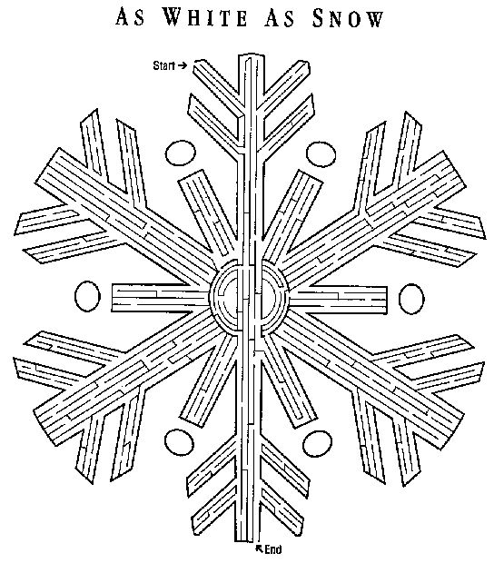 Snowflake maze printable | Christmas coloring pages ...