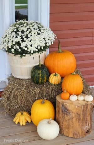 Fall Porch Decorating Ideas by victoria