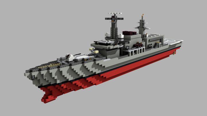 Type 23 Frigate    1:1 Minecraft Project