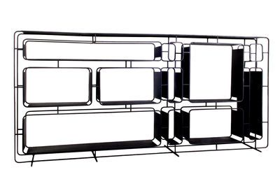 Project L. Shelf - Metal / L 165 x H 78 cm Black by XL Boom - Design furniture and decoration with Made in Design