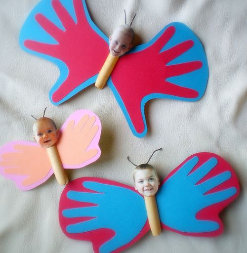 Vlinder (handjes evt. maken met vingerverf)