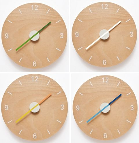 love these simple clocks, i would have so many time zones!