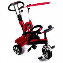Трехколесный велосипед с ручкой Сombi Тrike красный