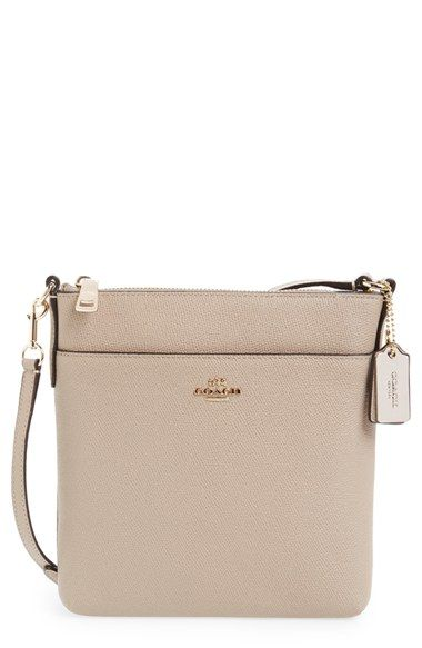 COACH Leather Crossbody Bag available at #Nordstrom