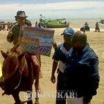 Lomba Pacuan Kuda Di Pantai Inbuti Lengkapi Hut Merauke Ke- 114