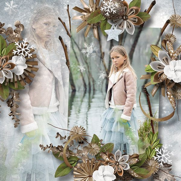 """Winters Frost"" by Designs by Brigit  https://www.digitalscrapbookingstudio.com/designs-by-brigit/"