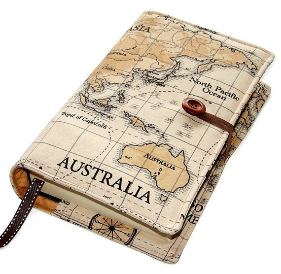 The 25 best map fabric ideas on pinterest travel theme nursery large bible cover in world map fabric by whimsywoodesigns on etsy gumiabroncs Choice Image