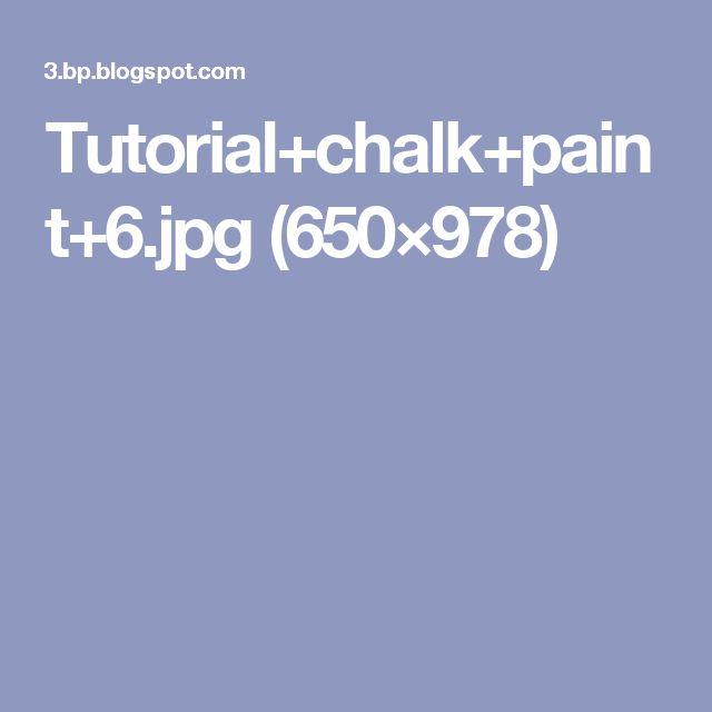 Tutorial+chalk+paint+6.jpg (650×978)