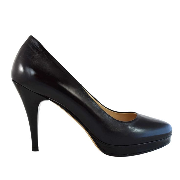 Pantofi din piele negru vitello