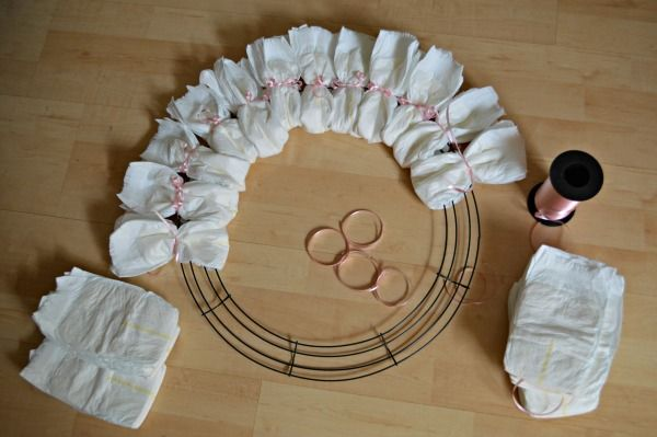 High Quality Images For Baby Shower Diaper Wreath Instructions