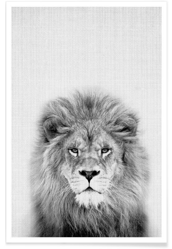 Lion en Affiche premium par Lila x Lola | JUNIQE