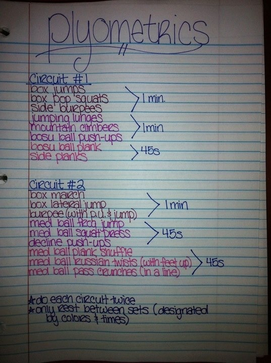 Plyometrics workout from the Skinny Fit Girl