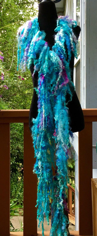 A personal favorite from my Etsy shop https://www.etsy.com/listing/386729146/art-yarn-boa-scarf