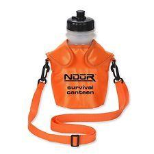 52062 ndur - 46oz выживания фляга с расширенный фильтр и оранжевый мешочек