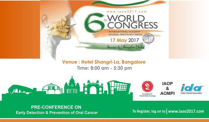 For registration log on to: www.iaoo2017.com