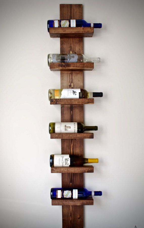 Rustic Wine Rack, Vertical Wine Rack, Rustic Modern Wine Rack