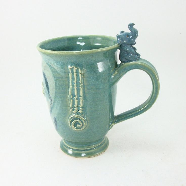 304 best cups glasses mugs images on pinterest tea time coffee cups and elephant stuff - Jonathan adler elephant mug ...