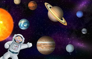 Grandpa in Space: Learn fascinating facts about planets, spaceships, and astronauts!