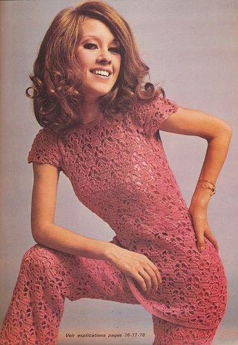 Vintage Rose Top & Pants free crochet graph pattern