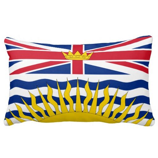 British Columbia flag Throw Pillow Pillows
