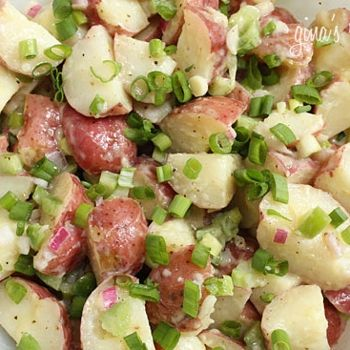 Baby Red Potato Salad - this was excellent and a refreshing change from the typical mayonnaise-y potato salad. Another keeper from skinnytaste!