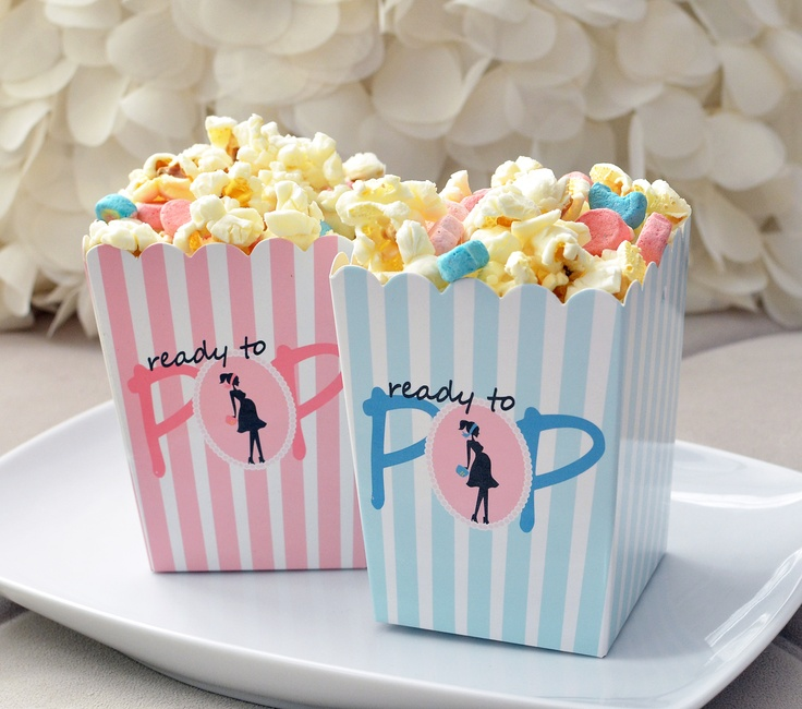 Baby Shower Favor Boxes Pinterest : Ready to pop favor box popcorn lucky charm