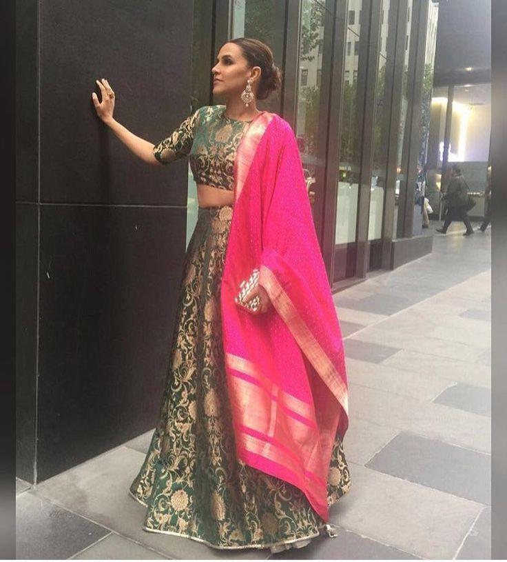 Neha Dhupia Lehenga ,Veeshack.com | Fashion for the World - 1