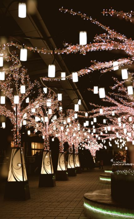 Walk through the Lantern Walkway in Nagoya, Japan