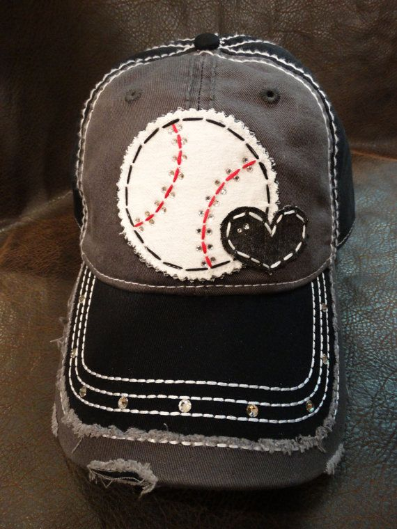 Baseball Love Distressed Baseball Hat Baseball Mom Etsy Baseball Mom Hat Baseball Hats Mom Hats