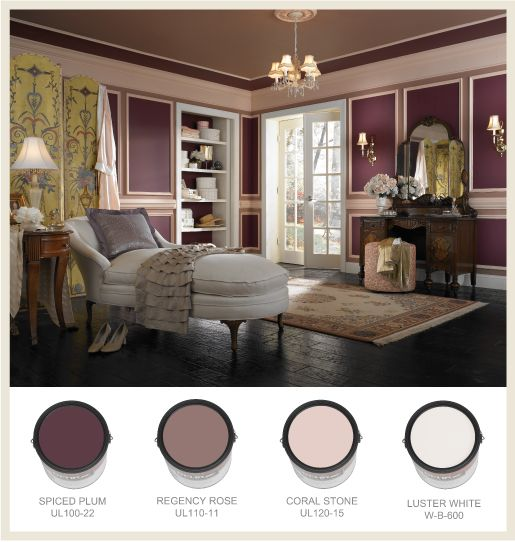 17 best images about plum on pinterest plum paint victorian interiors and plum room for Behr historic interior paint colors