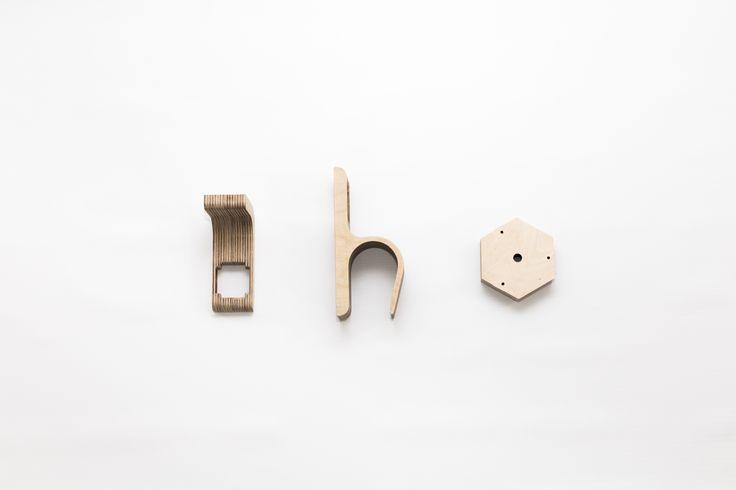 PLYSET Lamp accessories CNC cut in plywood - W01 C01 H01 - www.plyset.cc