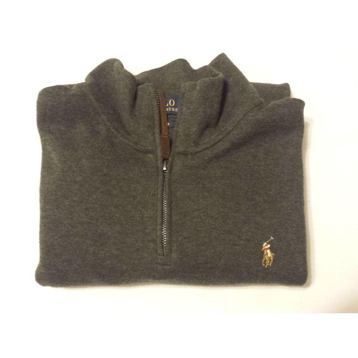#ebay POLO Ralph Lauren Men SIze M Gray sweater Quarter Zip Neck ESTATE RIB RalphLauren withing our EBAY store at  http://stores.ebay.com/esquirestore