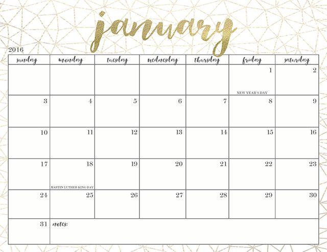 Year Calendar Pretty : Pretty free printable calendars printables