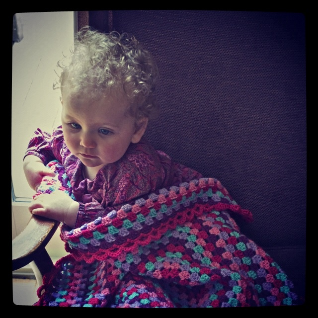 Tilly blanket in bright colours