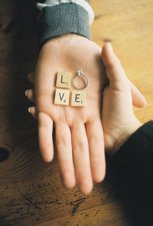 Scrabble engagement - save the date