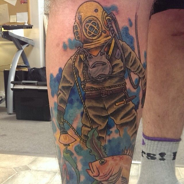17 best images about diver tattoo 39 s on pinterest san for How deep is a tattoo