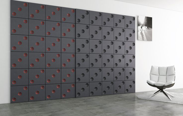 Custom mat finish decorative panels in solid colour MDF by Porta