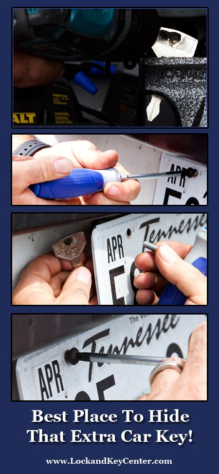 Best Place To Hide Your Extra Car Key!....Very Clever!
