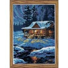 Dimensions Needlecrafts Counted Cross Stitch, Moonlit Cabin