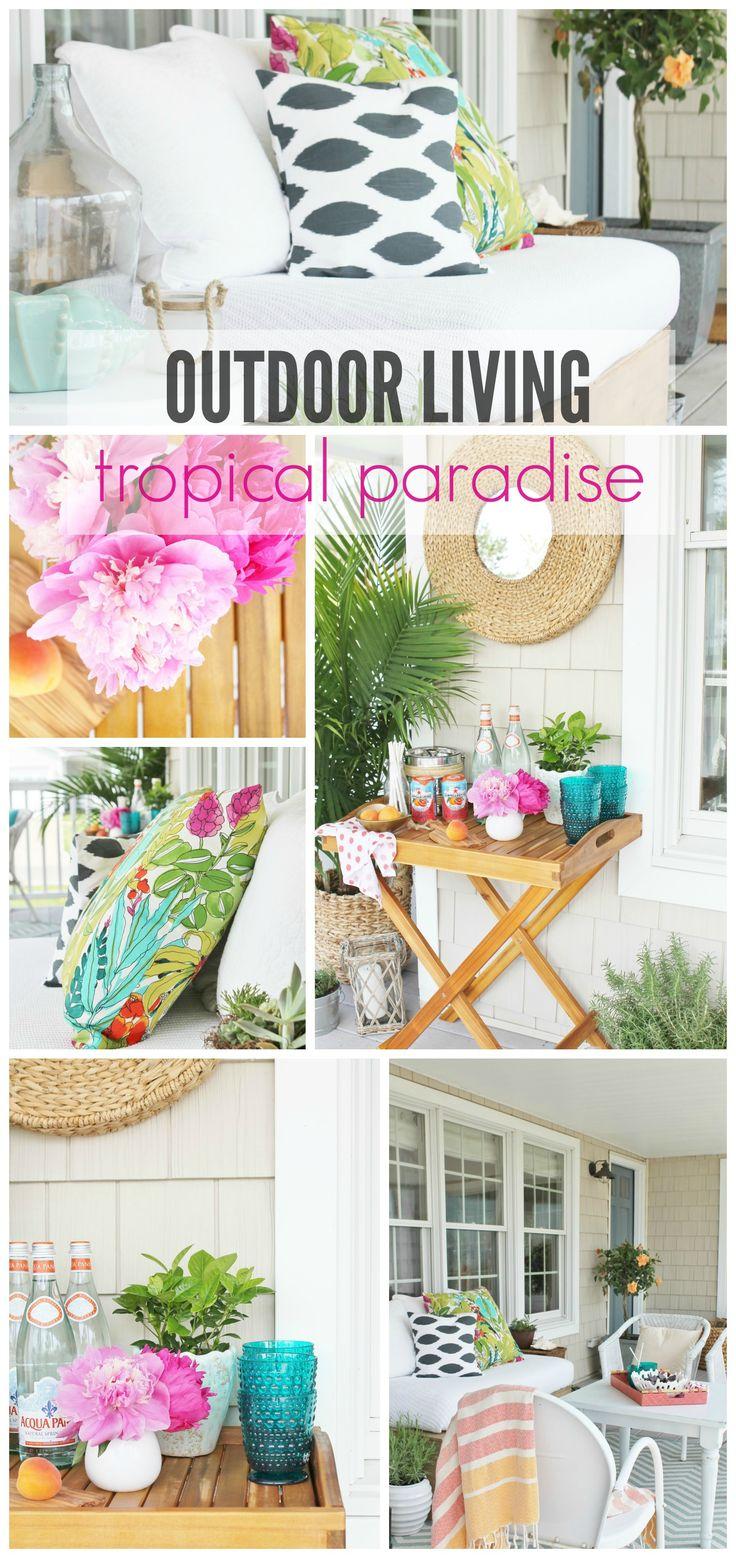 Outdoor Living Tropical Paradise via City Farmhouse >> #WorldMarket #OutdoorLiving #WorldMarketLove4Outdoors